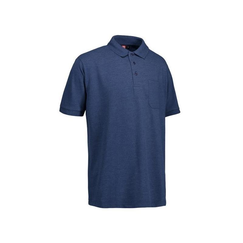 Heute im Angebot: PRO Wear Herren Poloshirt 320 von ID / Farbe: blau / 50% BAUMWOLLE 50% POLYESTER jetzt günstig kaufen
