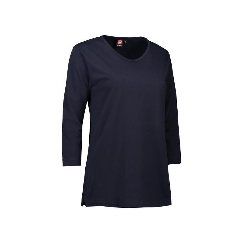 Heute im Angebot: PRO Wear Damen T-Shirt   3/4-Arm 313 von ID / Farbe: navy / 60% BAUMWOLLE 40% POLYESTER