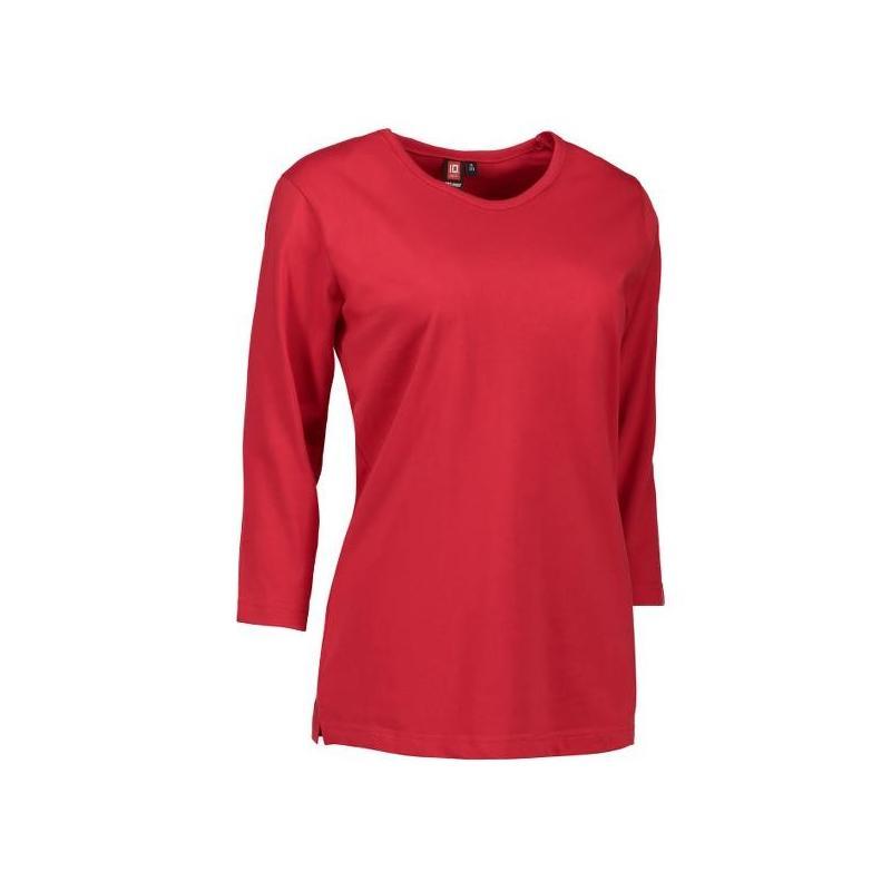 Heute im Angebot: PRO Wear Damen T-Shirt | 3/4-Arm 313 von ID / Farbe: rot / 60% BAUMWOLLE 40% POLYESTER
