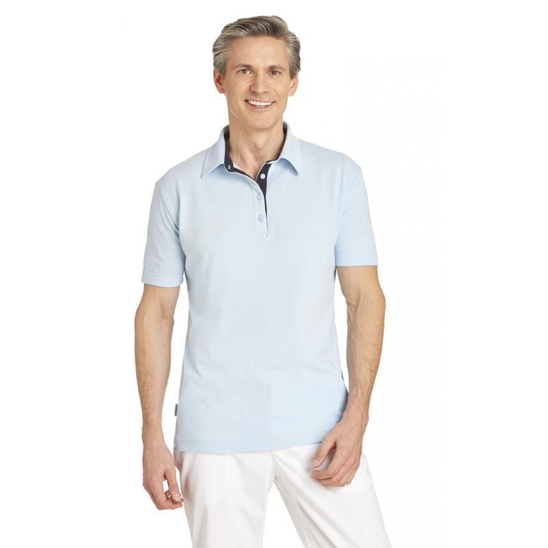 Heute im Angebot: Poloshirt 2637 von LEIBER / Farbe: hellblau-marine / 95 % Baumwolle 5 % Elasthan jetzt günstig kaufen