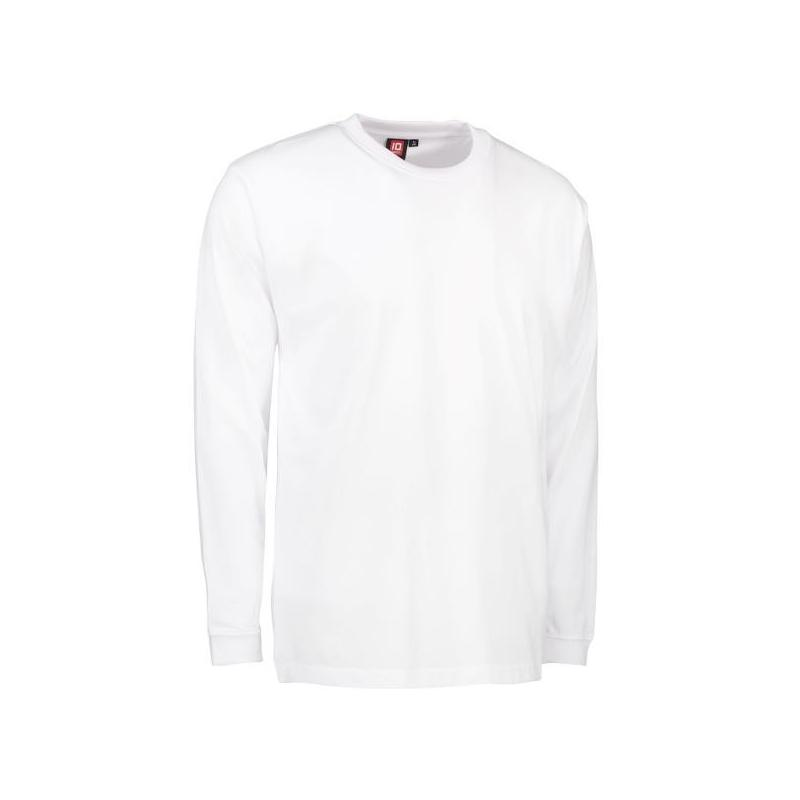 Heute im Angebot: PRO Wear Herren T-Shirt | Langarm 311 von ID / Farbe: weiß / 60% BAUMWOLLE 40% POLYESTER jetzt günstig kaufen