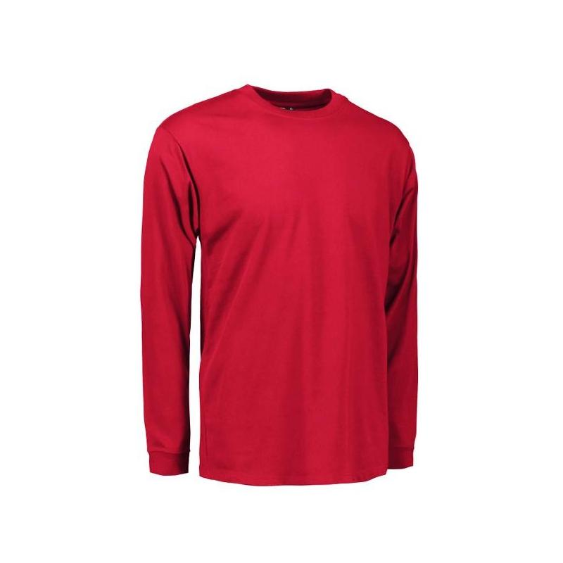 Heute im Angebot: PRO Wear Herren T-Shirt | Langarm 311 von ID / Farbe: rot / 60% BAUMWOLLE 40% POLYESTER in der Region Berlin Schmöckwitz