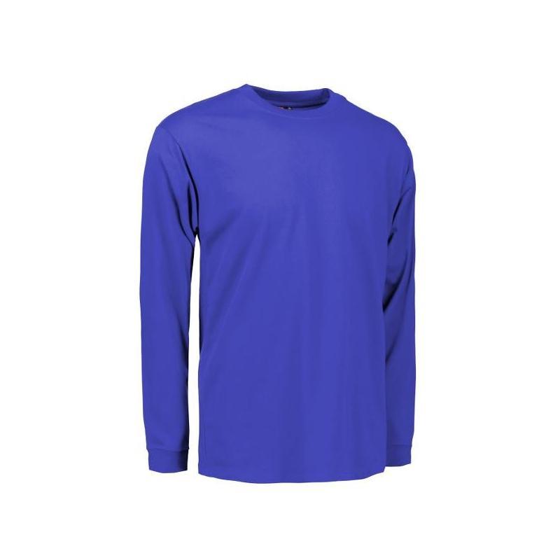 Heute im Angebot: PRO Wear Herren T-Shirt | Langarm 311 von ID / Farbe: königsblau / 60% BAUMWOLLE 40% POLYESTER jetzt günstig kaufen