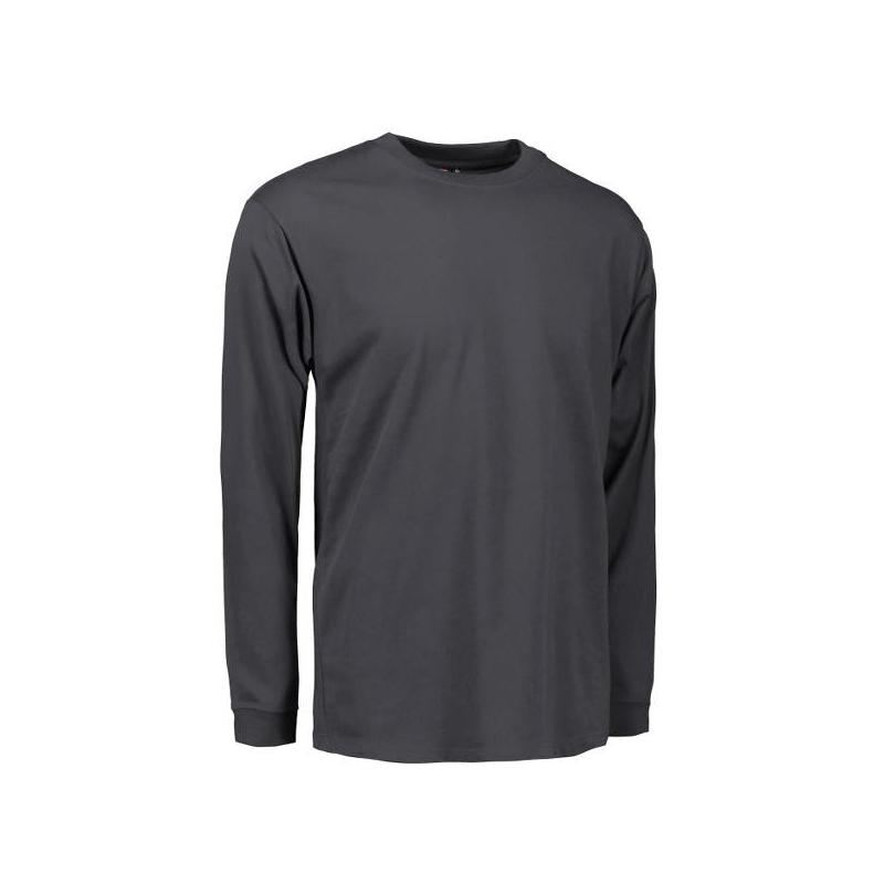 Heute im Angebot: PRO Wear Herren T-Shirt | Langarm 311 von ID / Farbe: grau / 60% BAUMWOLLE 40% POLYESTER jetzt günstig kaufen