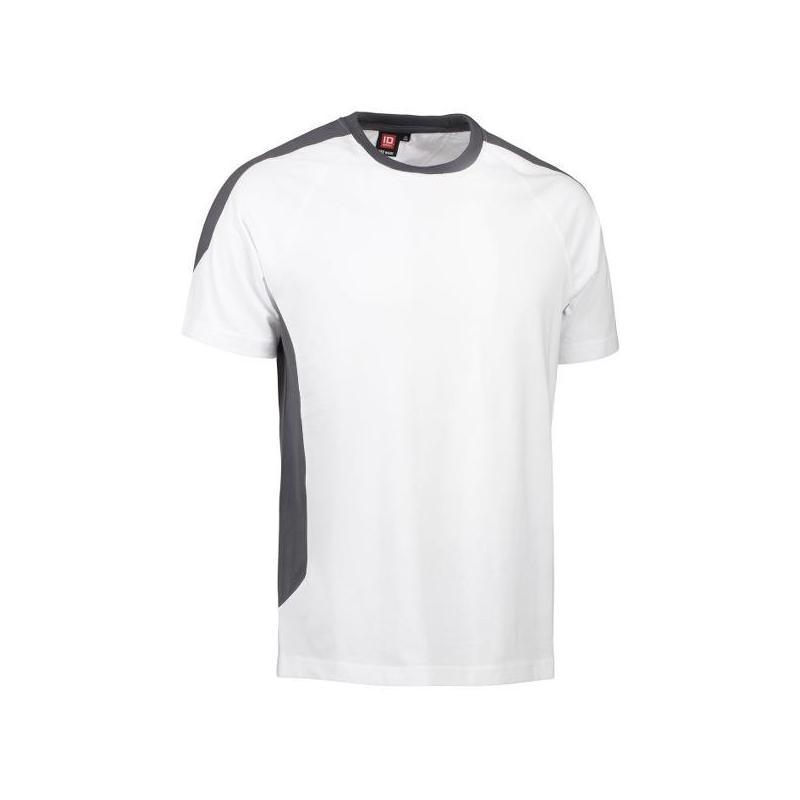 Heute im Angebot: PRO Wear T-Shirt | Kontrast 302 von ID / Farbe: weiß / 60% BAUMWOLLE 40% POLYESTER jetzt günstig kaufen
