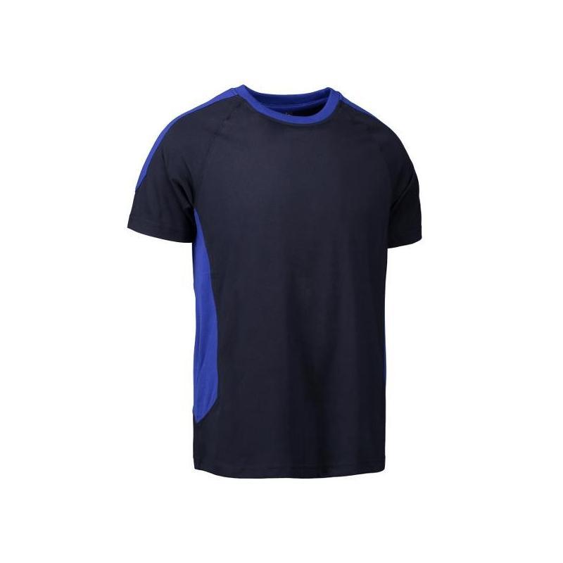 Heute im Angebot: PRO Wear T-Shirt | Kontrast 302 von ID / Farbe: navy / 60% BAUMWOLLE 40% POLYESTER