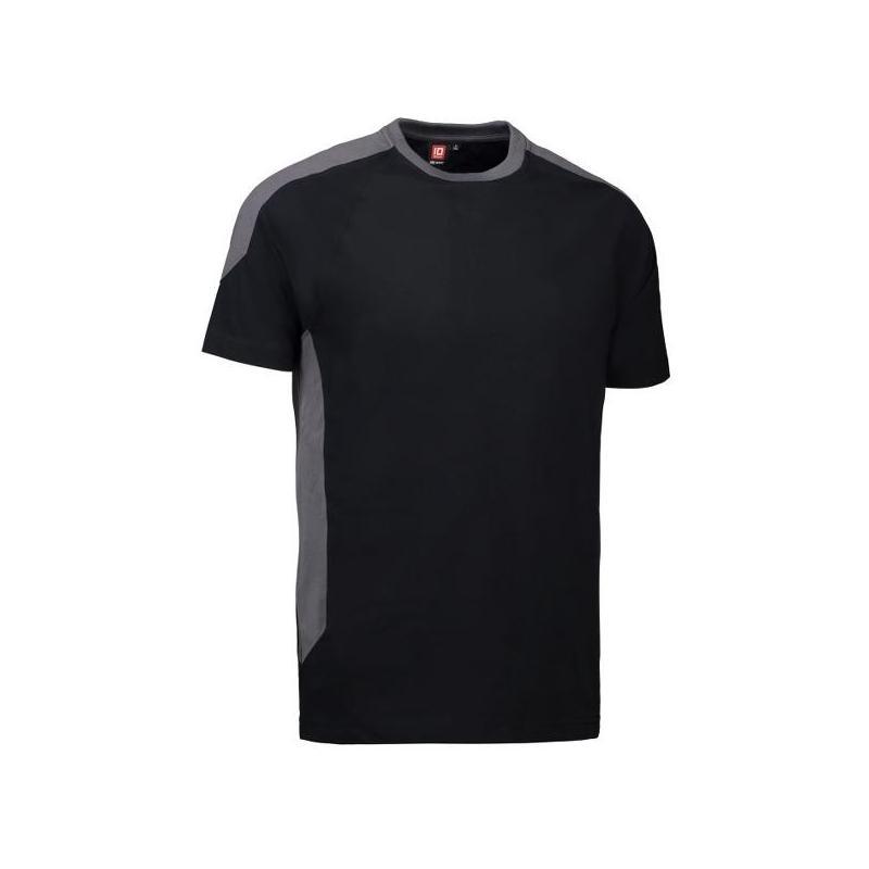 Heute im Angebot: PRO Wear T-Shirt | Kontrast 302 von ID / Farbe: schwarz / 60% BAUMWOLLE 40% POLYESTER jetzt günstig kaufen