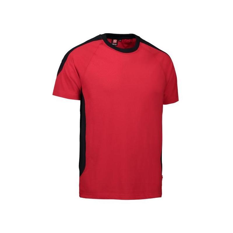 Heute im Angebot: PRO Wear T-Shirt | Kontrast 302 von ID / Farbe: rot / 60% BAUMWOLLE 40% POLYESTER