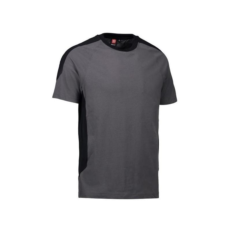 Heute im Angebot: PRO Wear T-Shirt | Kontrast 302 von ID / Farbe: grau / 60% BAUMWOLLE 40% POLYESTER