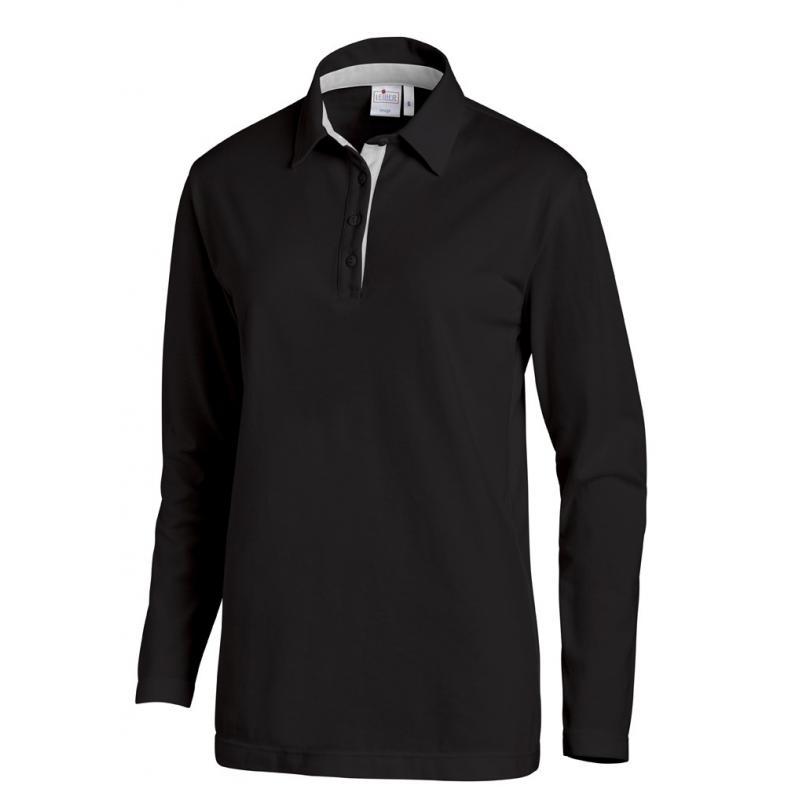 Heute im Angebot: Poloshirt 2638 von LEIBER / Farbe: schwarz-silbergrau / 95 % Baumwolle 5 % Elasthan jetzt günstig kaufen
