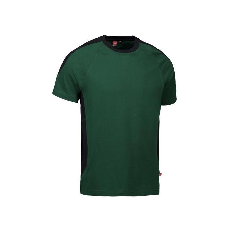 Heute im Angebot: PRO Wear T-Shirt | Kontrast 302 von ID / Farbe: grün / 60% BAUMWOLLE 40% POLYESTER jetzt günstig kaufen