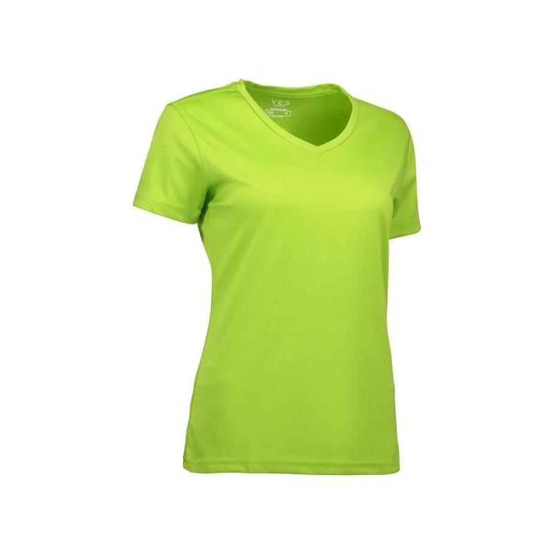 Heute im Angebot: YES Active Damen T-Shirt 2032 von ID / Farbe: lime / 100% POLYESTER in der Region Worms