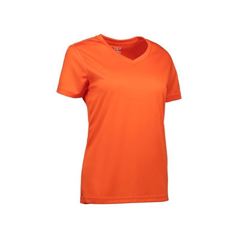 Heute im Angebot: YES Active Damen T-Shirt 2032 von ID / Farbe: orange / 100% POLYESTER in der Region Teltow
