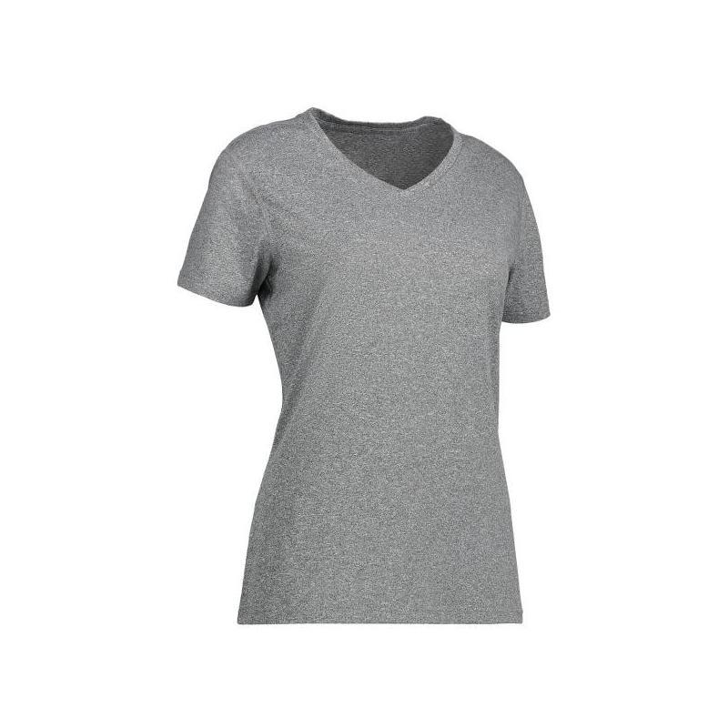 Heute im Angebot: YES Active Damen T-Shirt 2032 von ID / Farbe: grau / 100% POLYESTER jetzt günstig kaufen