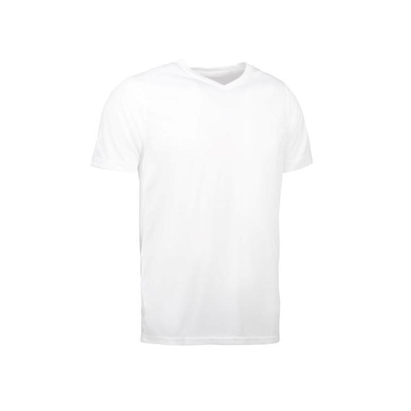 Heute im Angebot: YES Active Herren T-Shirt 2030 von ID / Farbe: weiß / 100% POLYESTER in der Region kaufen