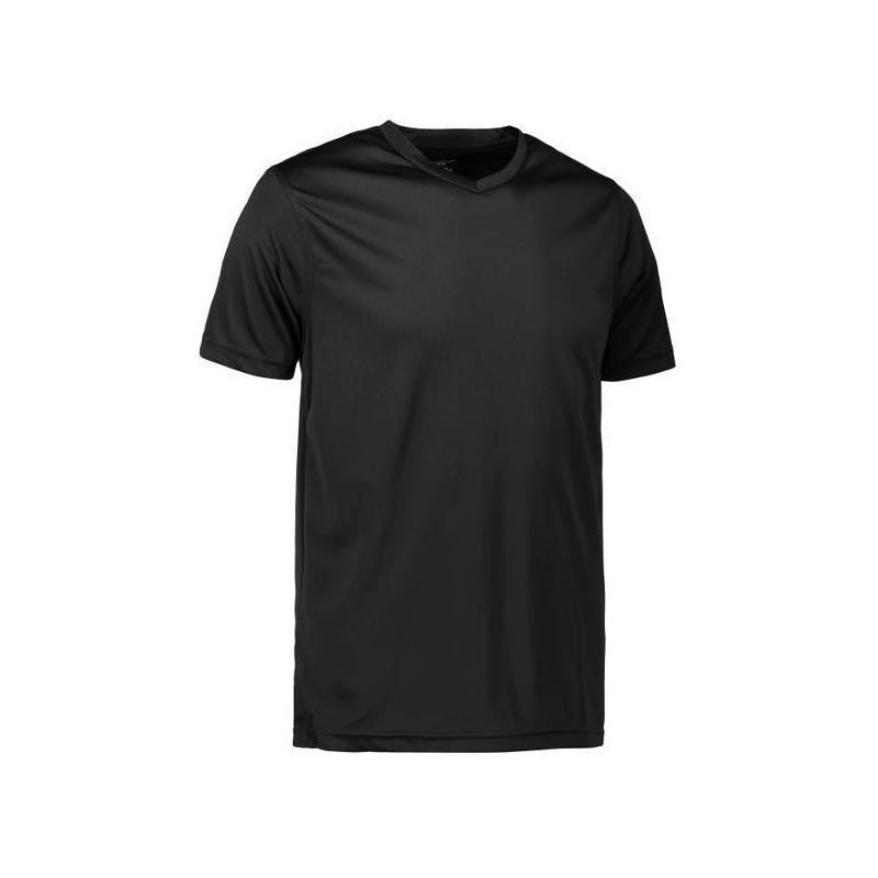 Heute im Angebot: YES Active Herren T-Shirt 2030 von ID / Farbe: schwarz / 100% POLYESTER jetzt günstig kaufen