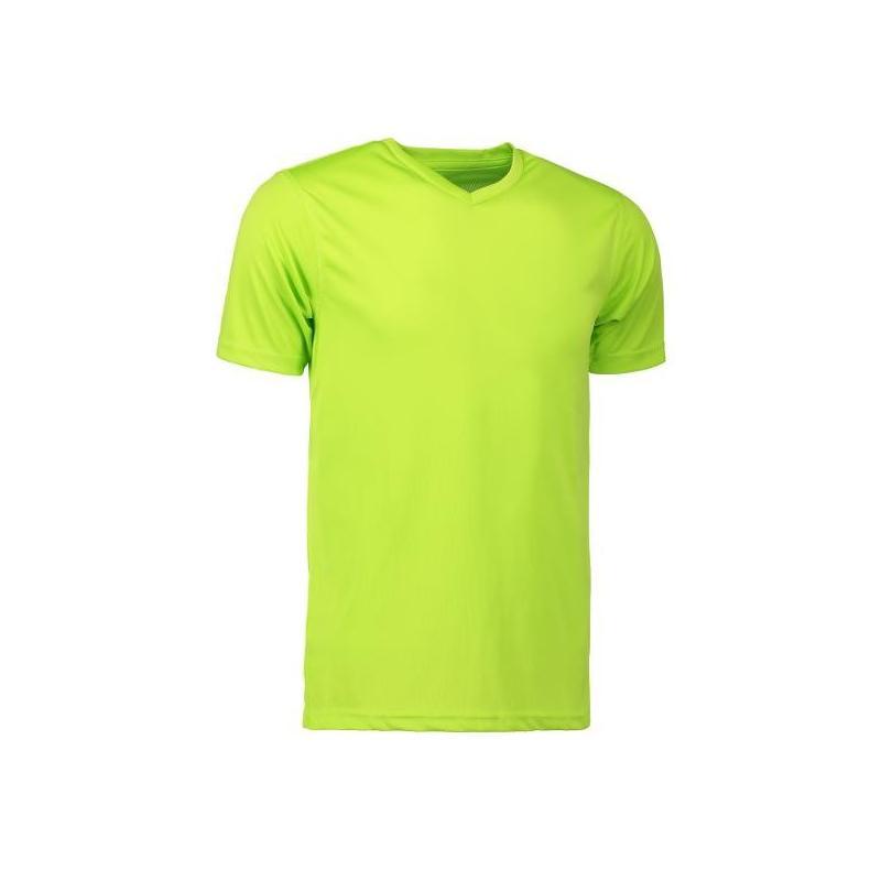 Heute im Angebot: YES Active Herren T-Shirt 2030 von ID / Farbe: lime / 100% POLYESTER