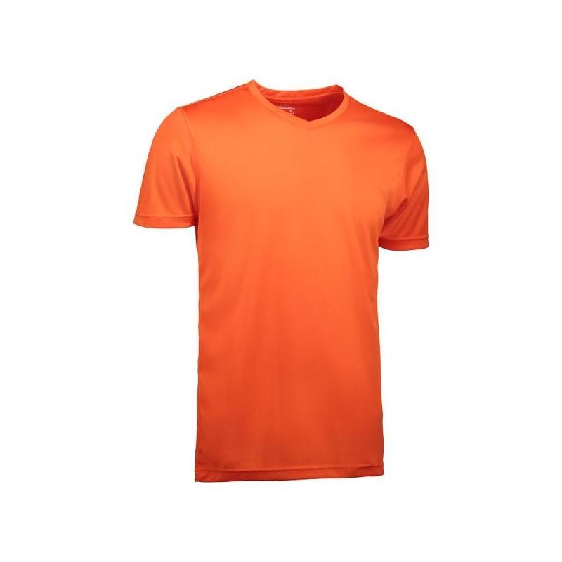 Heute im Angebot: YES Active Herren T-Shirt 2030 von ID / Farbe: orange / 100% POLYESTER