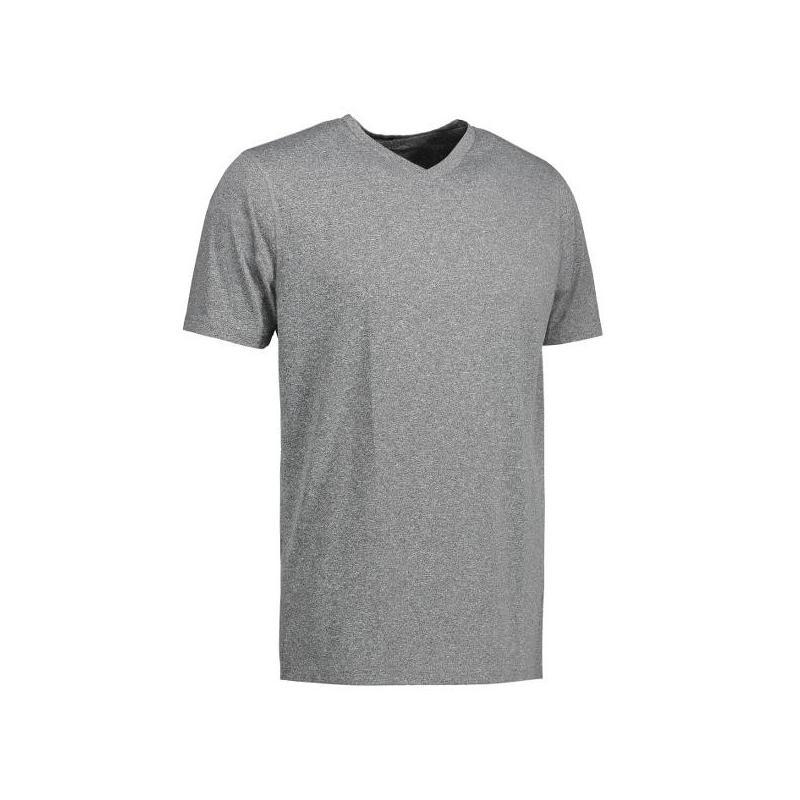Heute im Angebot: YES Active Herren T-Shirt 2030 von ID / Farbe: grau / 100% POLYESTER jetzt günstig kaufen