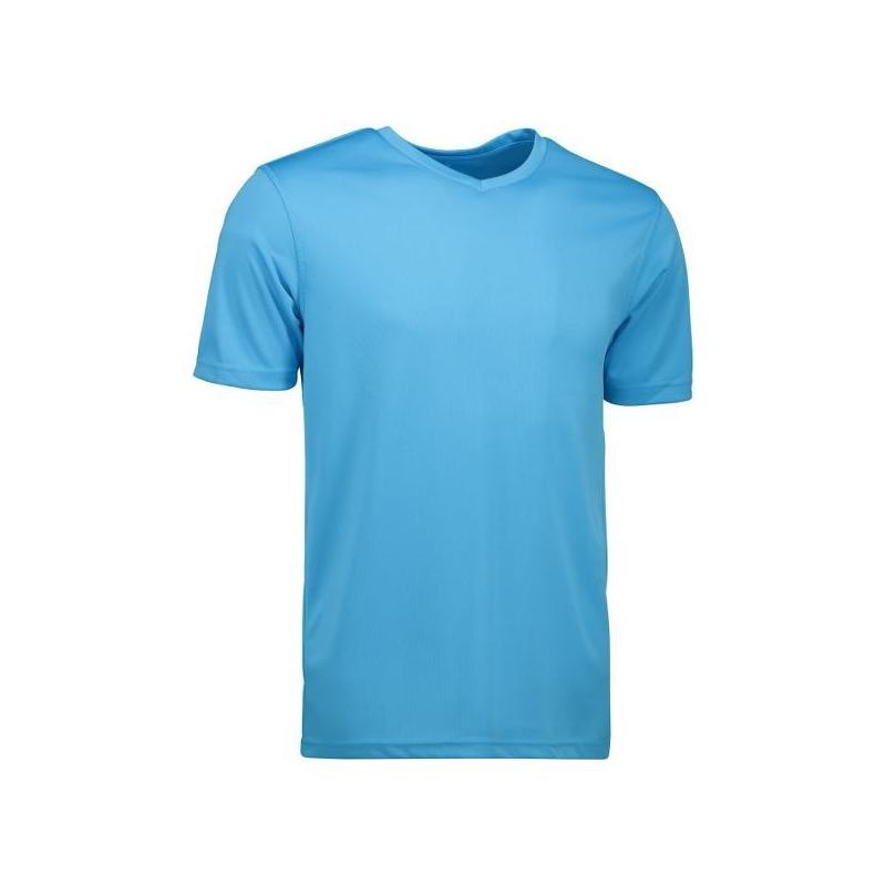 Heute im Angebot: YES Active Herren T-Shirt 2030 von ID / Farbe: cyan / 100% POLYESTER in der Region Leverkusen