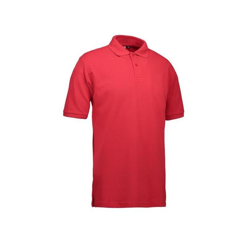 Heute im Angebot: YES Herren Poloshirt 2020 von ID / Farbe: rot / 100% POLYESTER