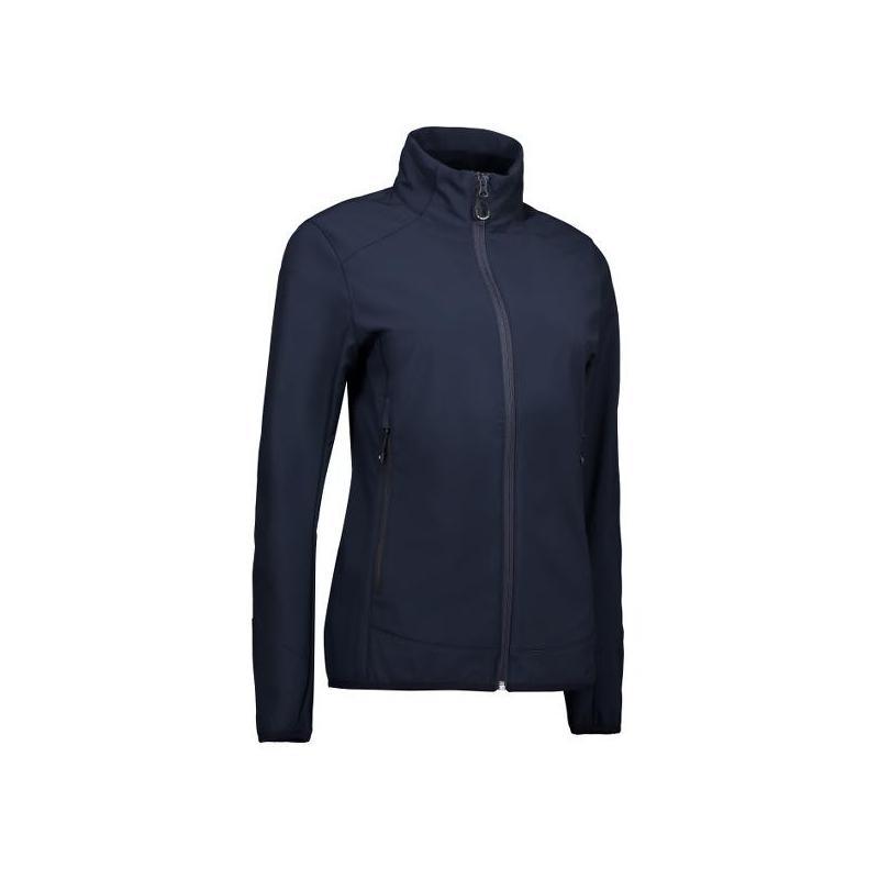 Heute im Angebot: Funktionelle Soft Shell Damenjacke 856 von ID / Farbe: navy / 100% POLYESTER jetzt günstig kaufen