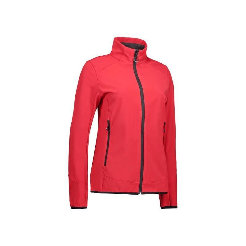 Heute im Angebot: Funktionelle Soft Shell Damenjacke 856 von ID / Farbe: rot / 100% POLYESTER in der Region Roßlau