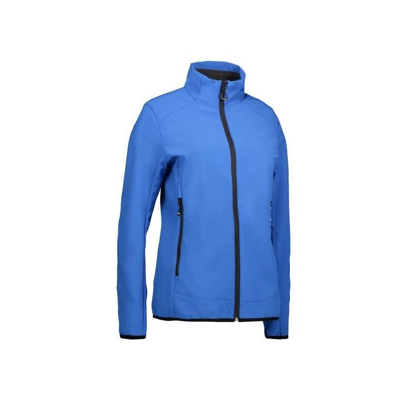 Heute im Angebot: Funktionelle Soft Shell Damenjacke 856 von ID / Farbe: azur / 100% POLYESTER jetzt günstig kaufen