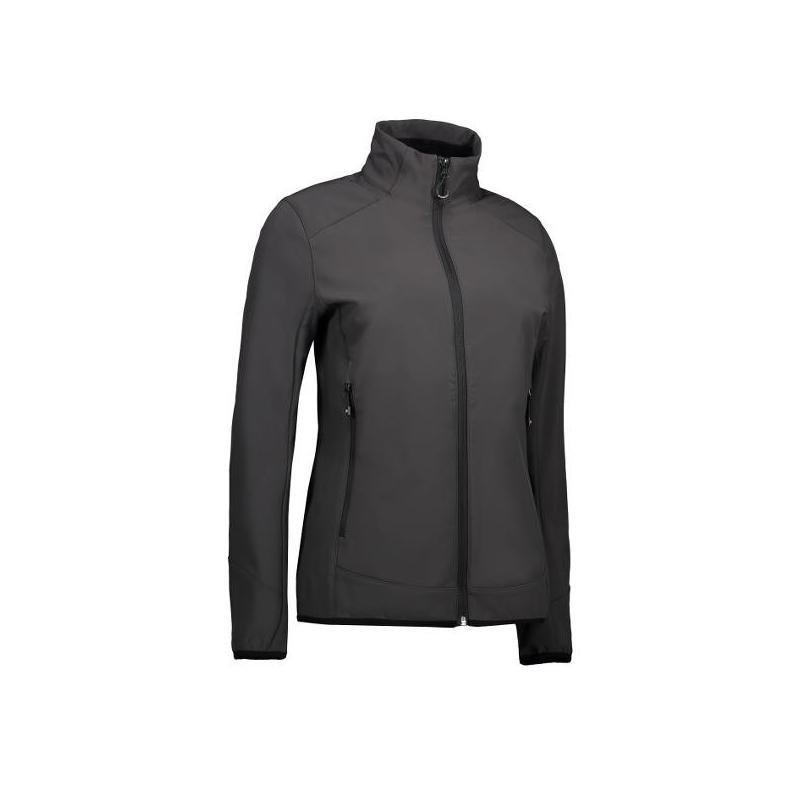 Heute im Angebot: Funktionelle Soft Shell Damenjacke 856 von ID / Farbe: grau / 100% POLYESTER jetzt günstig kaufen