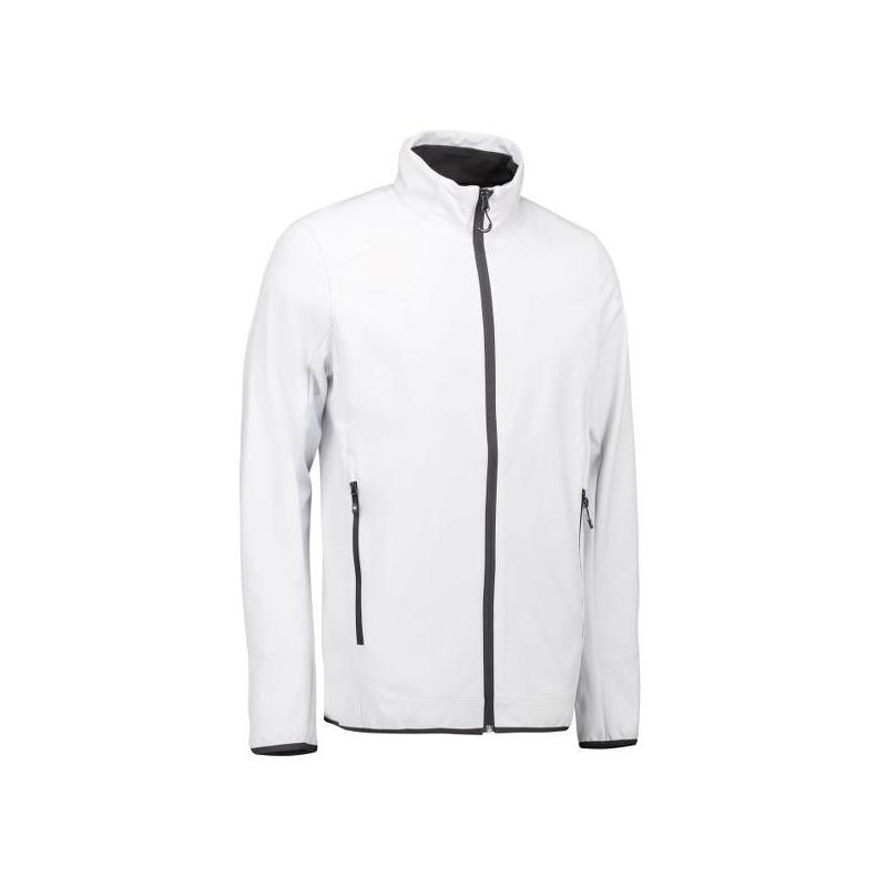 Heute im Angebot: Funktionelle Soft Shell Herrenjacke 854 von ID / Farbe: weiß / 100% POLYESTER jetzt günstig kaufen