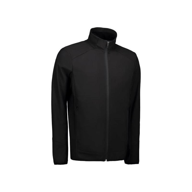 Heute im Angebot: Funktionelle Soft Shell Herrenjacke 854 von ID / Farbe: schwarz / 100% POLYESTER