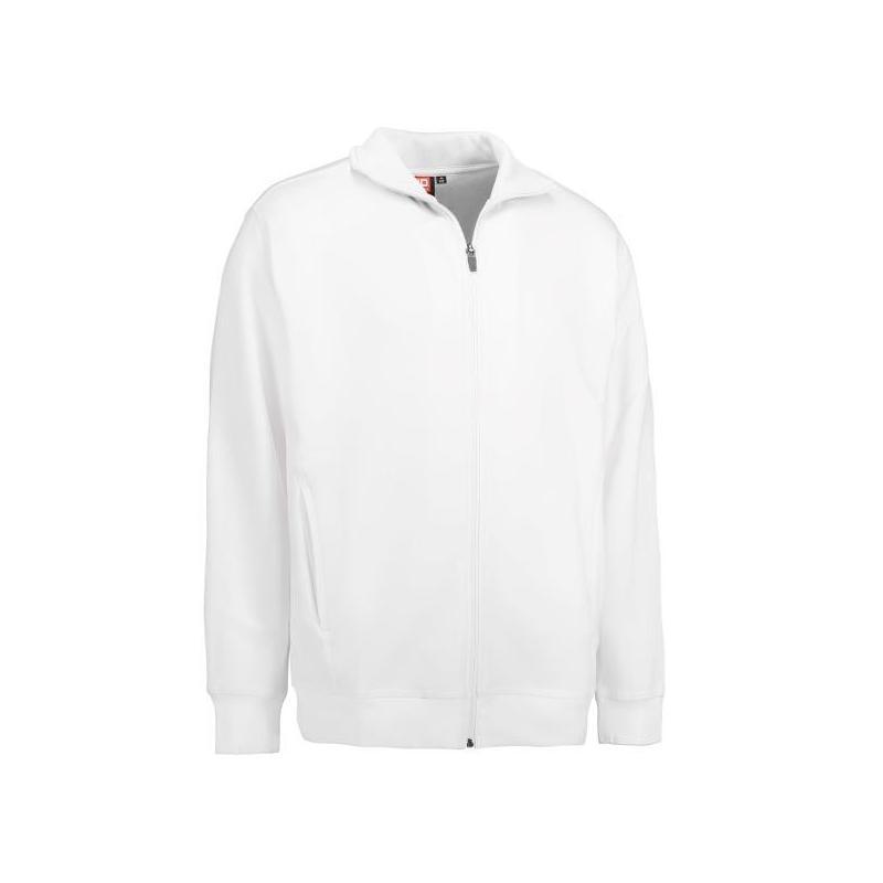Heute im Angebot: Herren Sweatshirtjacke 622 von ID / Farbe: weiß / 60% BAUMWOLLE 40% POLYESTER jetzt günstig kaufen