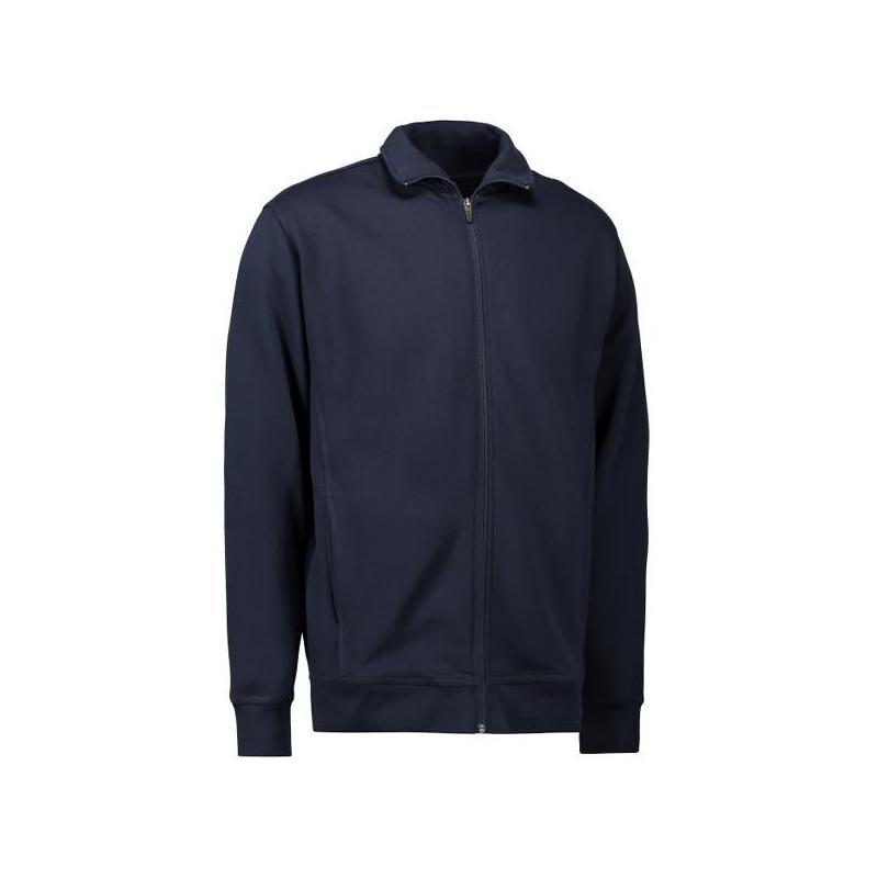 Heute im Angebot: Herren Sweatshirtjacke 622 von ID / Farbe: navy / 60% BAUMWOLLE 40% POLYESTER in der Region kaufen