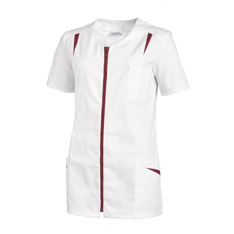 Heute im Angebot: Hosenkasack 2533 von LEIBER / Farbe: weiß-beere / 65 % Polyester 35 % Baumwolle
