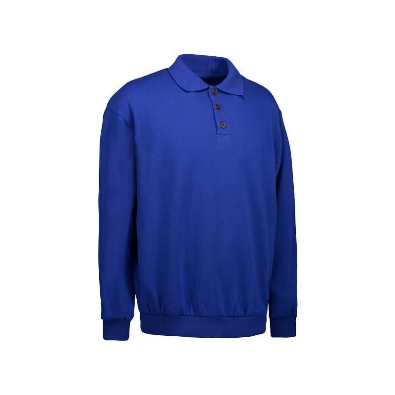 Heute im Angebot: Klassisches Herren Polo-Sweatshirt 601 von ID / Farbe: königsblau / 70% BAUMWOLLE 30% POLYESTER