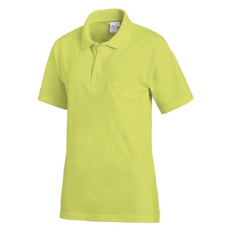 Heute im Angebot: Poloshirt 241 von LEIBER / Farbe: limette / 50% Baumwolle 50% Polyester