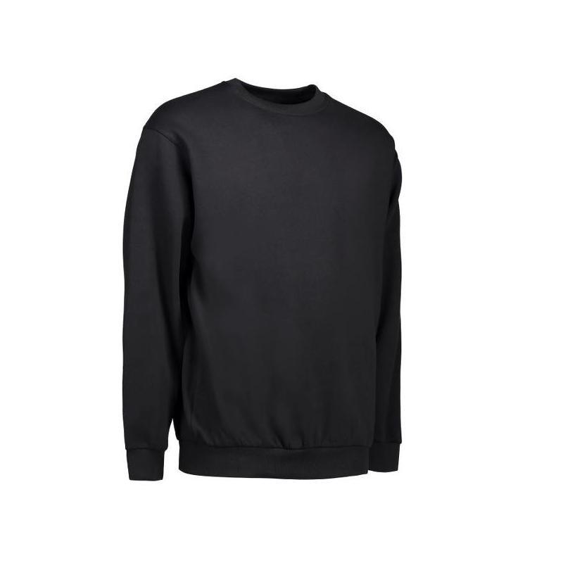 Heute im Angebot: Klassisches Herren Sweatshirt 600 von ID / Farbe: schwarz / 70% BAUMWOLLE 30% POLYESTER in der Region Herten