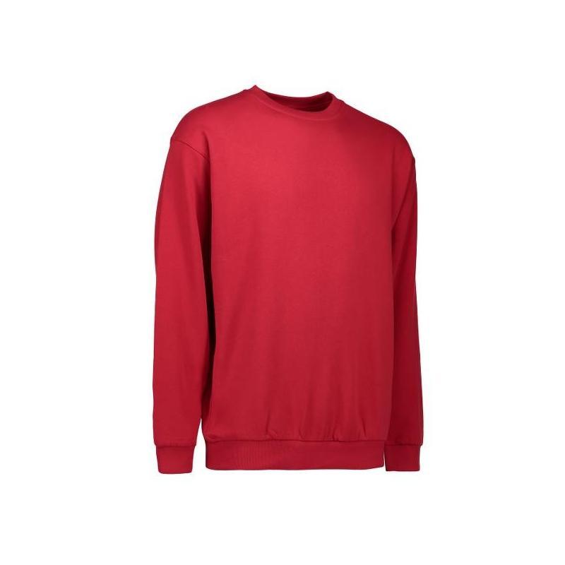 Heute im Angebot: Klassisches Herren Sweatshirt 600 von ID / Farbe: rot / 70% BAUMWOLLE 30% POLYESTER jetzt günstig kaufen