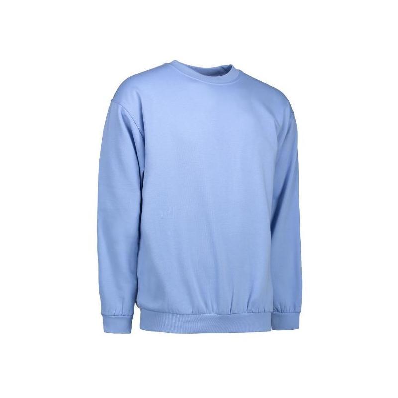 Heute im Angebot: Klassisches Herren Sweatshirt 600 von ID / Farbe: hellblau / 70% BAUMWOLLE 30% POLYESTER in der Region Augsburg
