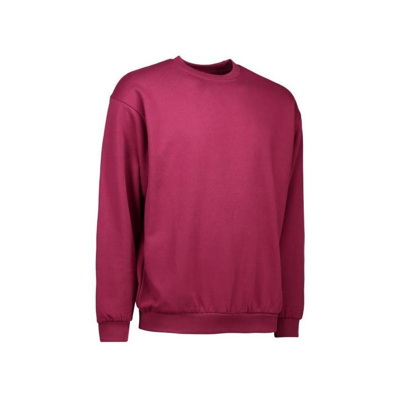 Heute im Angebot: Klassisches Herren Sweatshirt 600 von ID / Farbe: bordeaux / 70% BAUMWOLLE 30% POLYESTER