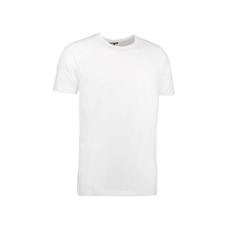 Heute im Angebot: Stretch Herren T-Shirt 594 von ID / Farbe: weiß / 92% BAUMWOLLE 8% ELASTANE jetzt günstig kaufen