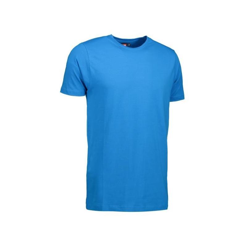 Heute im Angebot: Stretch Herren T-Shirt 594 von ID / Farbe: türkis / 92% BAUMWOLLE 8% ELASTANE in der Region kaufen