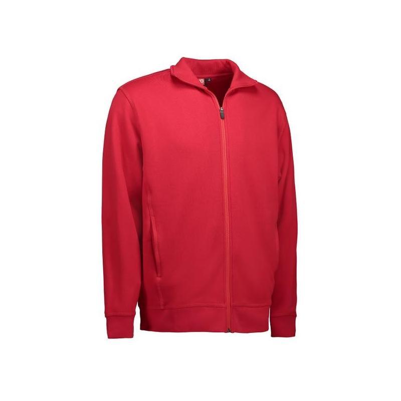 Heute im Angebot: Herren Sweatshirtjacke 622 von ID / Farbe: rot / 60% BAUMWOLLE 40% POLYESTER jetzt günstig kaufen