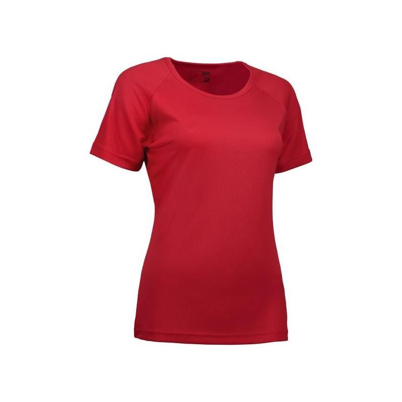 Heute im Angebot: GAME Active Damen T-Shirt 571 von ID / Farbe: rot / 100% POLYESTER