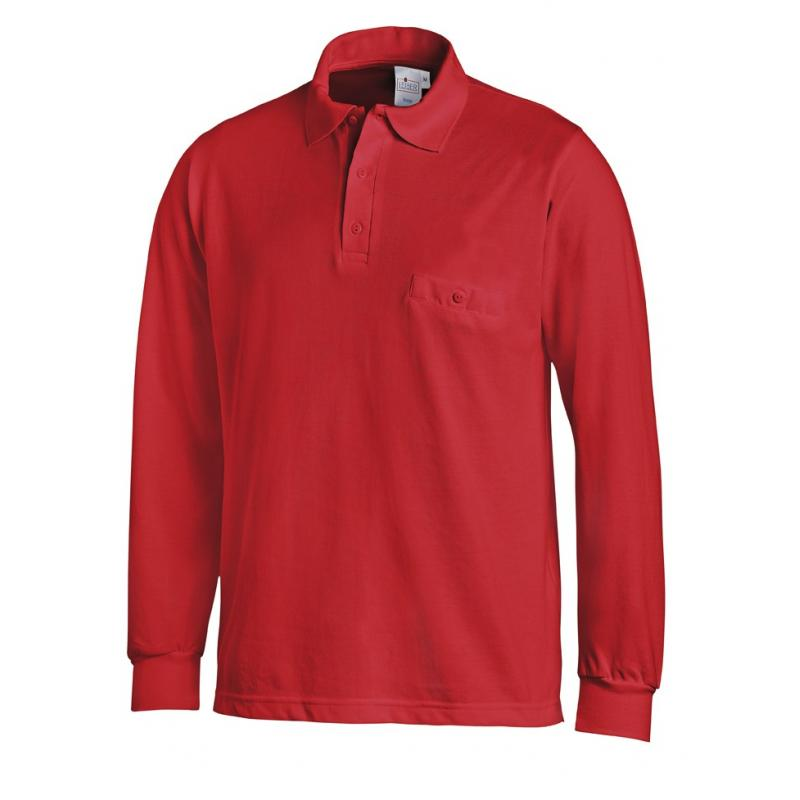 Heute im Angebot: Poloshirt 841 von LEIBER / Farbe: rot / 50 % Baumwolle 50 % Polyester jetzt günstig kaufen