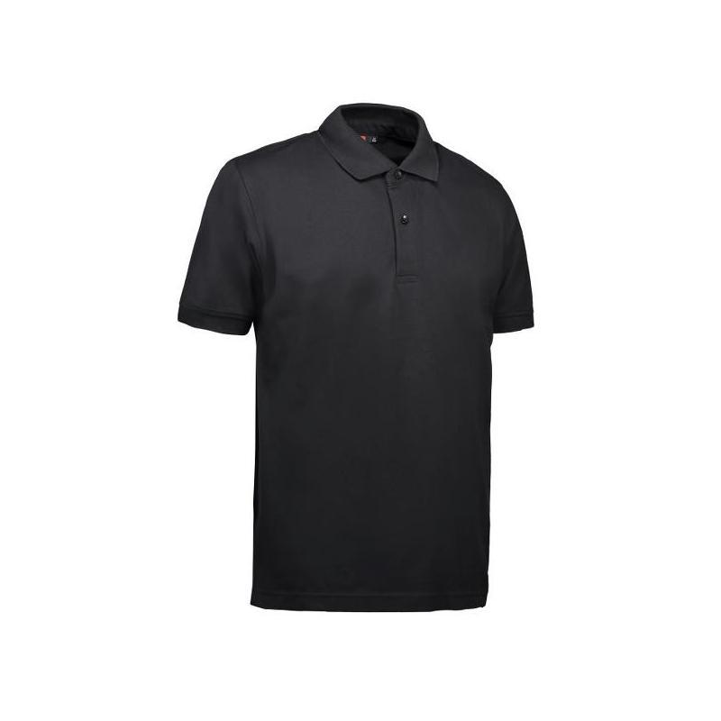 Heute im Angebot: Pique Herren Poloshirt 560 von ID / Farbe: schwarz / 80% BAUMWOLLE 20% POLYESTER