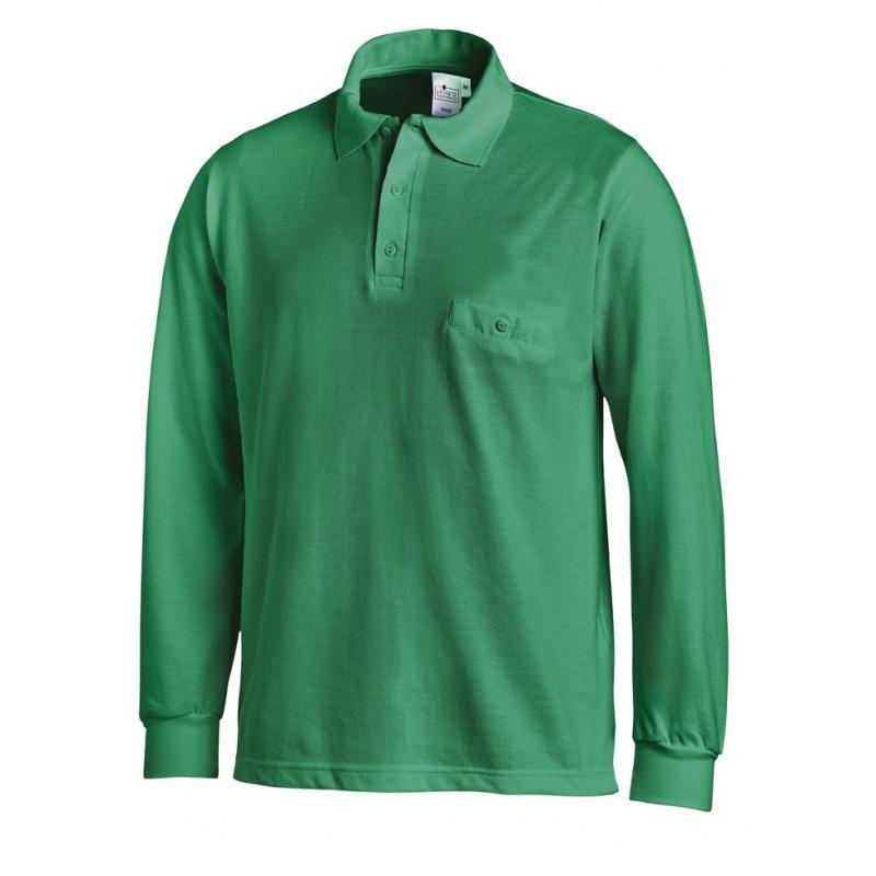 Heute im Angebot: Poloshirt 841 von LEIBER / Farbe: gärtnergrün / 50 % Baumwolle 50 % Polyester