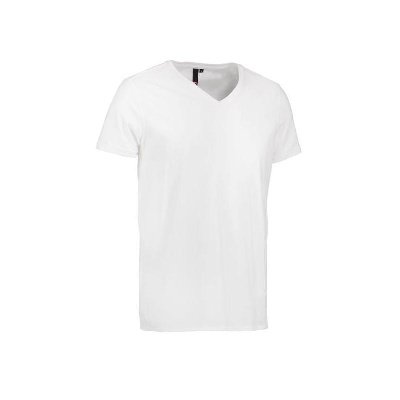 Heute im Angebot: CORE V-Neck Tee Herren T-Shirt 542 von ID / Farbe: weiß / 100% BAUMWOLLE in der Region kaufen
