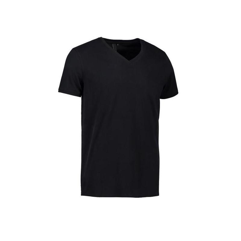 Heute im Angebot: CORE V-Neck Tee Herren T-Shirt 542 von ID / Farbe: schwarz / 100% BAUMWOLLE in der Region kaufen