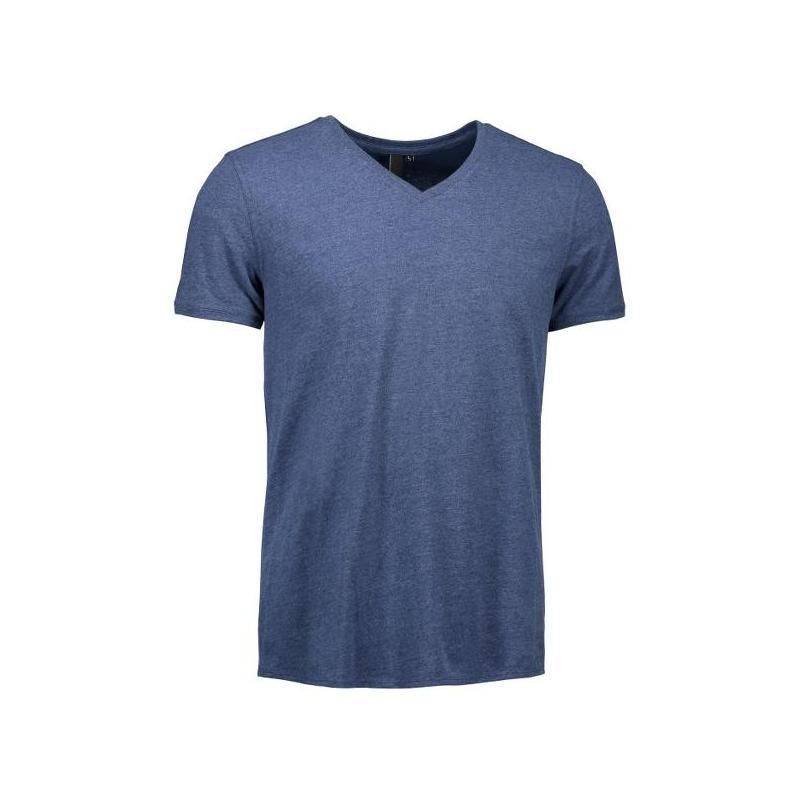 Heute im Angebot: CORE V-Neck Tee Herren T-Shirt 542 von ID / Farbe: blau  / 100% BAUMWOLLE in der Region Bielefeld